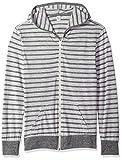 alternative apparel eco - Alternative Men's Eco Zip Hoodie, Eco Grey Riviera Stripe/Eco Grey, X Large