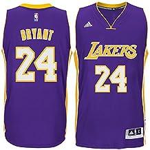 24 Kobe Bryant Los Angeles Lakers Mens Road Swingman Jersey Purple color Size M