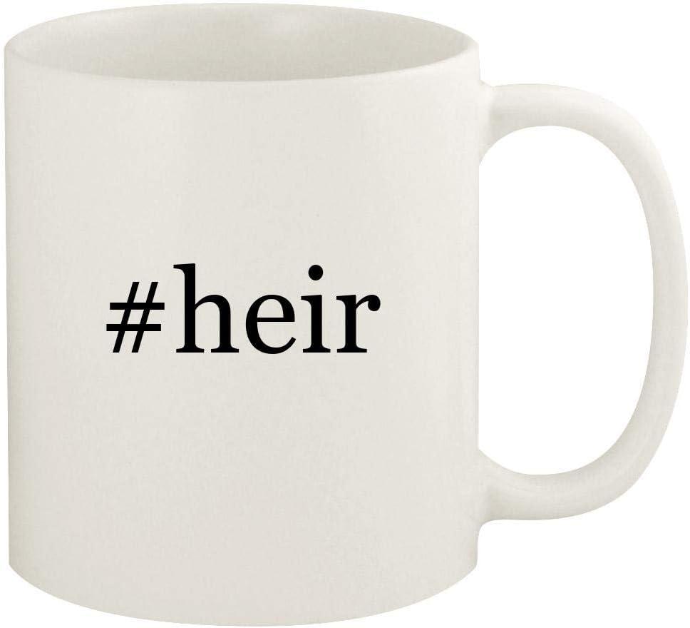 #heir - 11oz Hashtag Ceramic White Coffee Mug Cup, White