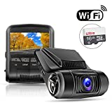 """OldShark WiFi Car Dash Cam G12 (with 16GB Card),1080P 2.4"""" LCD Dashboard Camera with G-Sensor, 170 Degree, Night Vision, Loop Recording, Parking Monitor, WDR,Motion Detection"""