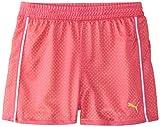 PUMA Big Girls' Active Double Mesh Short, Pink