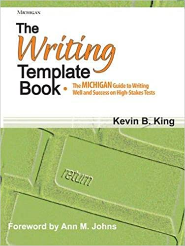 amazon com the writing template book the michigan guide to writing