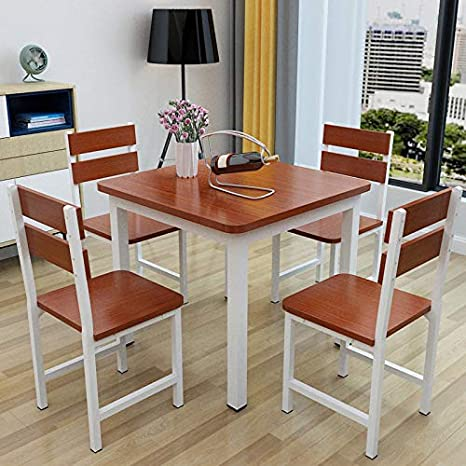 comedor cuadrada mesa silla comida combinación pequeña mesa ...