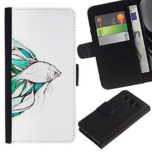 All Phone Most Case / Oferta Especial Cáscara Funda de cuero Monedero Cubierta de proteccion Caso / Wallet Case for Samsung Galaxy S3 III I9300 // Koi Pond Japan Minimalism Nature