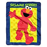 Sesame Street Celebrate Elmo Super Soft Plush Baby Size Throw Blanket 40x50 Inches