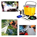 PORTABLE AUTOMATIC CAR WASHER 12 V WITH POWER GUN & BRUSH FOR POWERFUL PRESSUR FREE best quality COFFEE MUG
