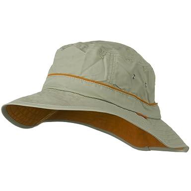d6fa19f85f9afb UV 50+ Orange Piping Talson Sun Bucket Hat - Khaki - Beige -: Amazon.co.uk:  Clothing
