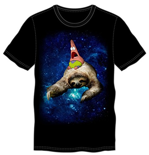 Bioworld Spongebob Squarepants Patrick and Sloth in Space Men's T-Shirt]()