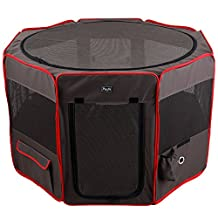 Petsfit 92cm*53cmZipper Sealed Bottom Portable Foldable Pop Up Dog Playpen Exercise Pen