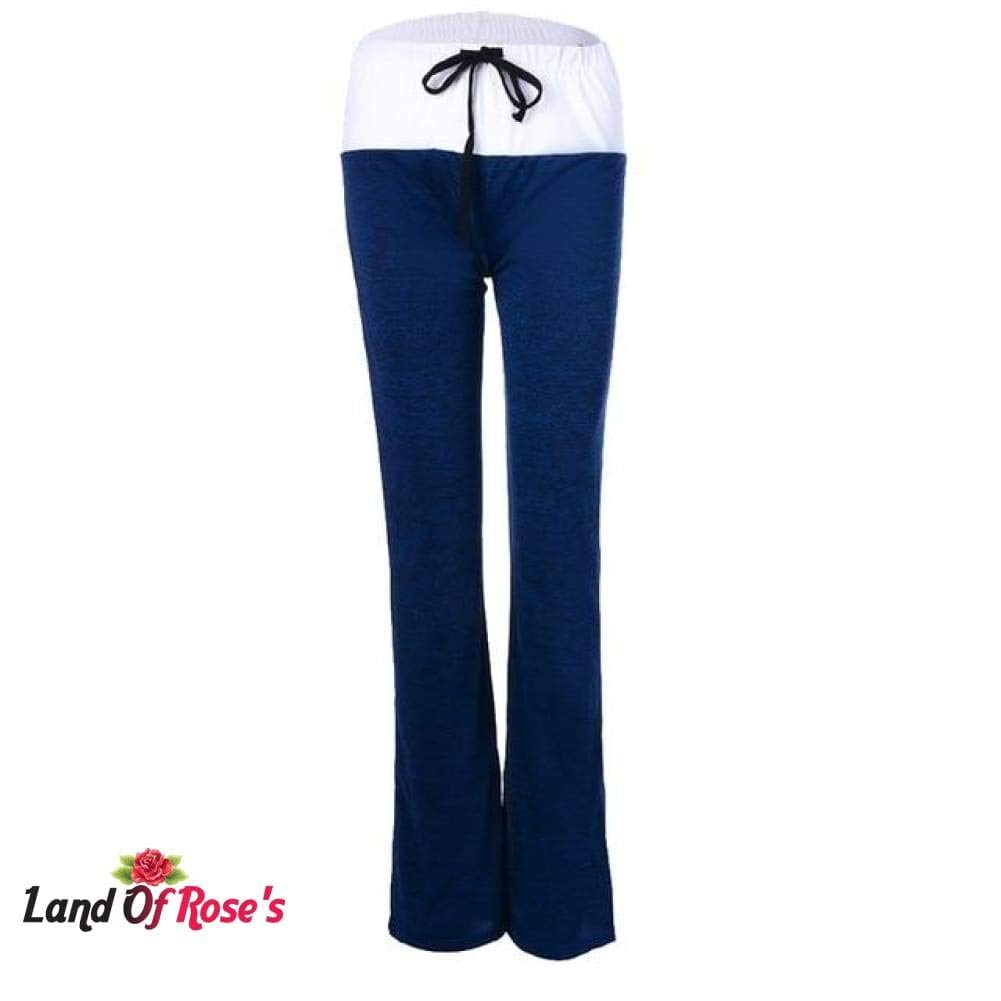 Land Of Roses Plus-Size Casual Solid Drawstring Wide Leg Yoga Pants