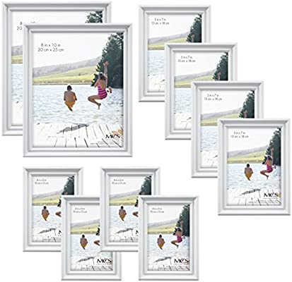 Amazoncom Mcs 10pc Picture Frame Value Set Two 8x10 In Four 5x7