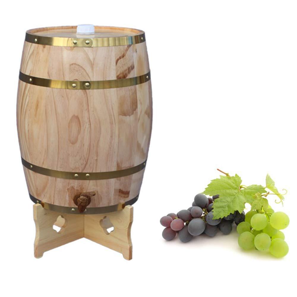 XWDQ 5L Wine Making Barrels Brewing Decorative Barrels Brewing Hotel Restaurant Exhibition Display Wooden Oak Barrels,Natural