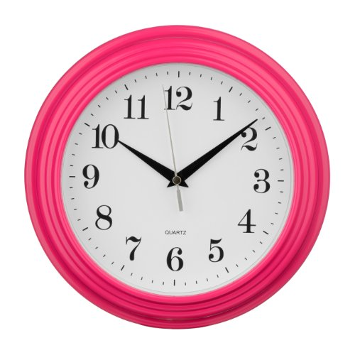 Cheap Premier Housewares Vintage Wall Clock – Hot Pink