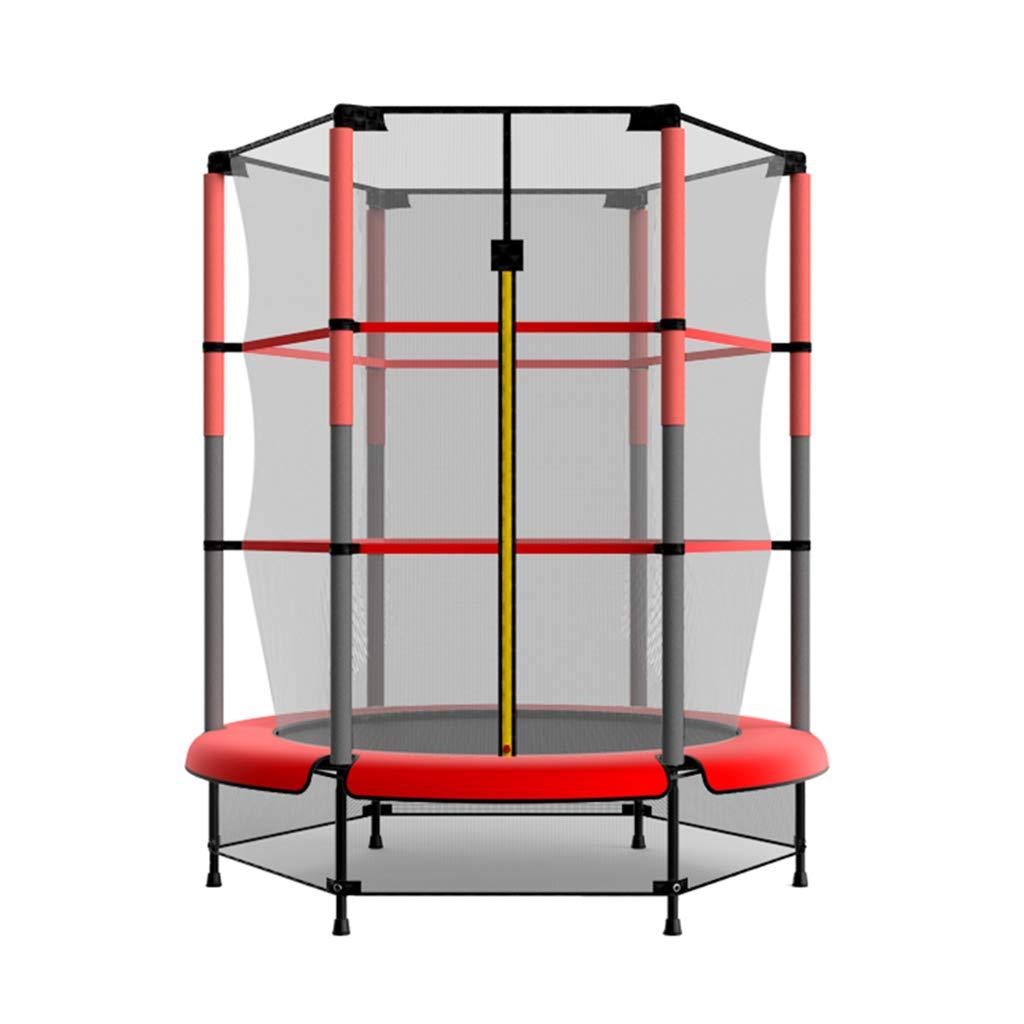 Gartentrampoline Trampolin-Heimkindertrampolin Trampolinhallen-Sprungbett Mit Netz Kinderspielzeugspringbett (Farbe   ROT, Größe   137  137  160cm)