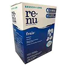 Bausch & Lomb Renu Multiplus Multi-Pack Two Bottles, 480 mL (16.2oz) Each + One 60 mL (2.2oz) travel size Multi-Purpose Solution + 2 Lens Cases 1020 mL (34.4 oz) Total