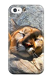 Iphone 4/4s Case Cover - Slim Fit Tpu Protector Shock Absorbent Case (mountainlionpuma Animal Other)