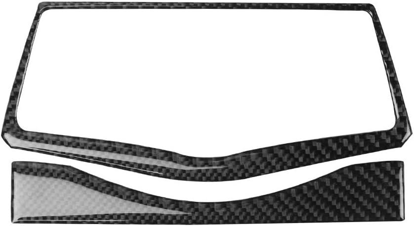 Carbon Fiber Interior Decoration Decal Frame Cover Trim Sticker for Nissan 2009-2020 370Z (Dashboard NAVI Screen Frame Trim)