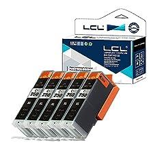 LCL Compatible for Canon PGI-250 PGI-250XL PGI-250XLBK (5-Pack PGBK) Ink Cartridge for Canon PIXMA MG5420/MG5422/MG5520/MG5522/MG5620 /white/MG6320/MG6420/MG6620 /white/Orange/MG7120/ MG7520 /white/Orange/IP7220/MX722/MX922/IX6820/IP8720