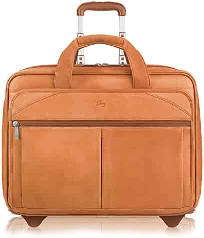 Solo Walker 15.6 Inch Rolling Laptop Case, Tan