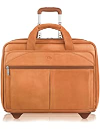 Walker 15.6 Inch Rolling Laptop Case, Tan