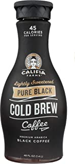 product image for Califia Farms (NOT A CASE) Pure Black Cold Brew Coffee Lightly Sweetened