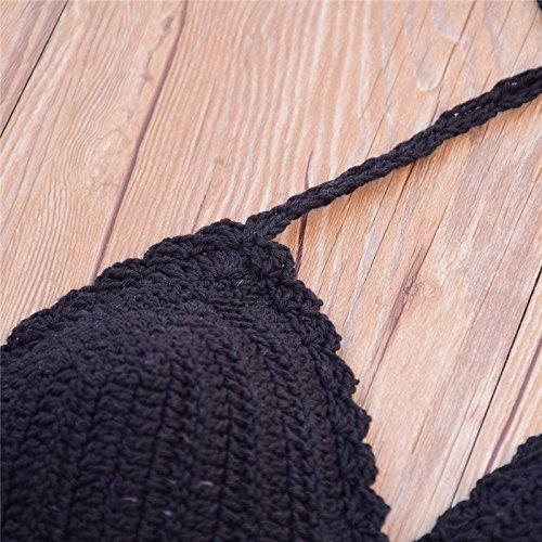 Uskincare Traje de Baño Mujer Tejido de Punto Bikini Bañador Bajo la Cintura Playa Mar Verano 4-Flores