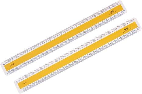 Rulex Verulam 30cm 12 inch Flat Oval Metric Scale Ruler