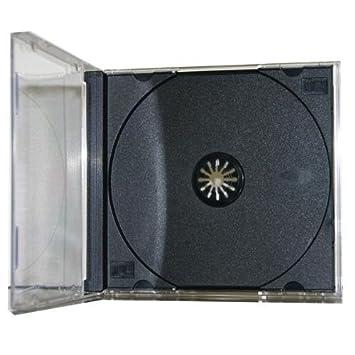 50 bandejas de repuesto transparente vacío CD Jewel cajas estándar con interior gris oscuro/negro