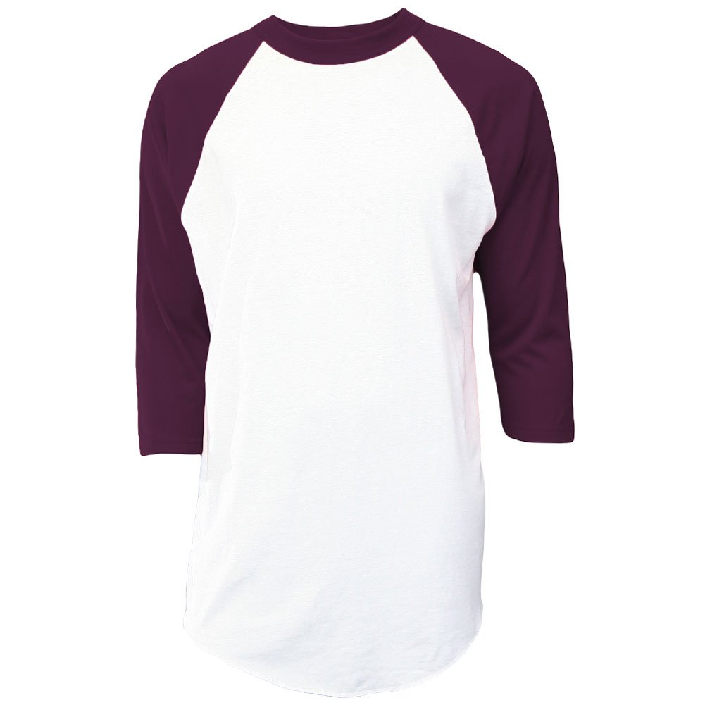 Black t shirt front and back plain - Amazon Com Mj Soffe Men S 3 4 Sleeve Baseball Jersey Sports Outdoors