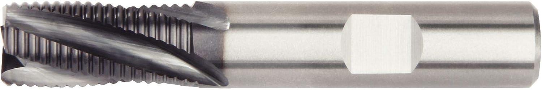 WIDIA Hanita 4S0R13005NW 4S0R HP Roughing End Mill Weldon Shank Carbide RH Cut 0.5 Cutting Dia AlTiN Coating 4-Flute 0.02 Chamfer