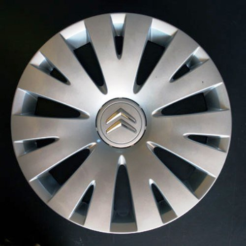 C4 C2 Set of 4 new wheel trims for Citroen C3 C5 C1 Nemo//Berlingo//Xsara Picasso with original rims in 15 inches C8