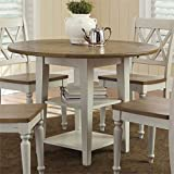 Liberty Furniture 841-T4242 Al Fresco III Drop Leaf Leg Table, 42'' x 42'' x 30'', Driftwood and Sand