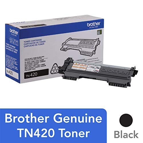 Brother Genuine Toner Cartridge, TN420, Replacement Black Toner, Page Yield Up To 1,200 -