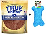 True Chews''The Original'' Chicken Jerky Fillets in Re-sealable Pouch, 22-Ounce and Bow Wow Plush Squeaky Bone Toy Bundle