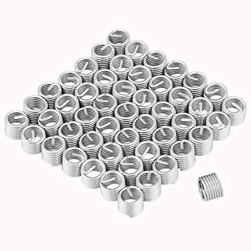 Ochoos 50pcs M8 Screws Thread Repair Insert Stainless Steel Coiled Wire Helical Thread Inserts Thread Repair Tools Fastener Hardware