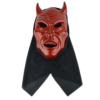 DaoRier 1pc Decoración de Halloween Accesorios de Halloween Máscara Ngau Tau Máscara de demonio Máscara Face