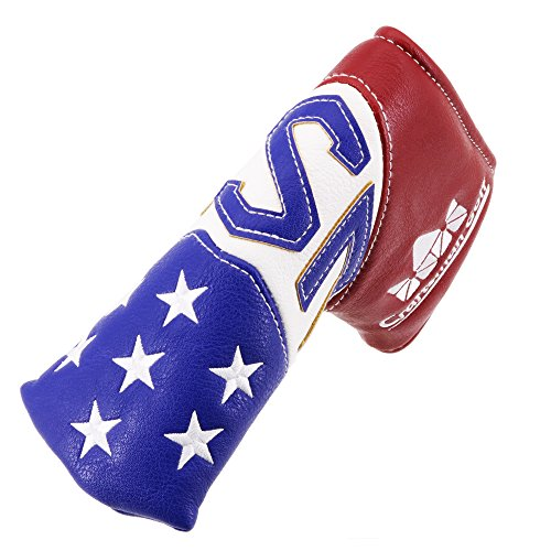 Craftsman Golf USA Stars Red White Blue Pu Leather Golf Club Blade Putter Cover Headcover for Scotty Cameron Odyssey