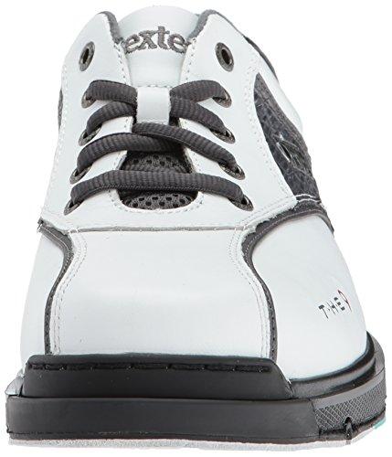 Dexter Mens Le 9 Scarpe Da Bowling Bianco / Grigio Croc