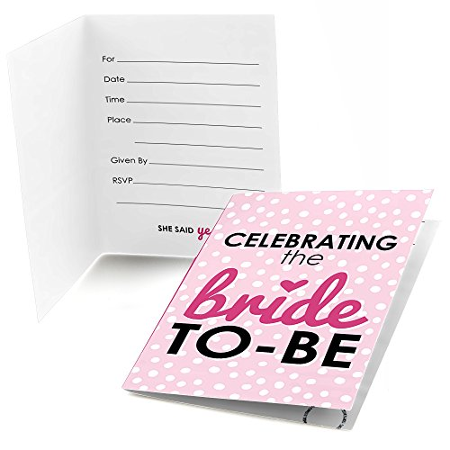 Bride-To-Be - Fill-In Bridal Shower & Classy Bachelorette Party Invitations (8 count)