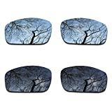 #7: 2 Pair Polarized Lens Replacement for Oakley Monster Pup Black&Silver Chrome