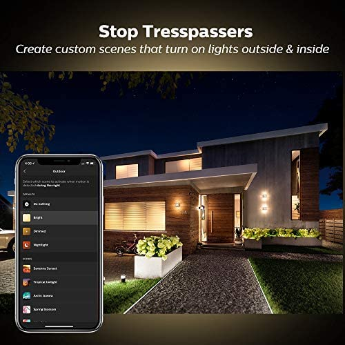 Philips Hue Dusk-to-Dawn Outdoor Motion Sensor for Smart Home, Wireless Easy to Install Hue Hub Required, for use with Philips Hue Smart Lights