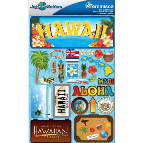Reminisce Jet Setters Dimensional (Hawaii Scrapbooking Stickers)