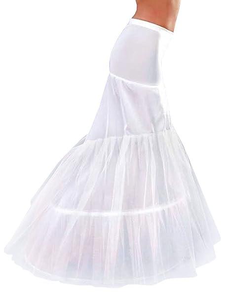 ecdac6c28fb8 Mulanbridal 2 Hoops Petticoats Skirts Slip Mermaid Crinoline Skirts For  Wedding Party Underskirt Style 1