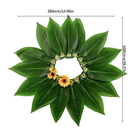 Falda de Hoja de simulación de Fiesta Hawaiana Disfraz de Fiesta ...