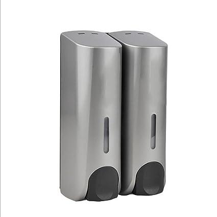 LL-Jabón doble máquina de pared dispensador cocina lavabo champú acondicionamiento líquido jabón líquido máquina