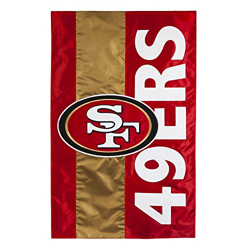 Team Sports America San Francisco 49ers Embellish Garden Flag, Multicolor