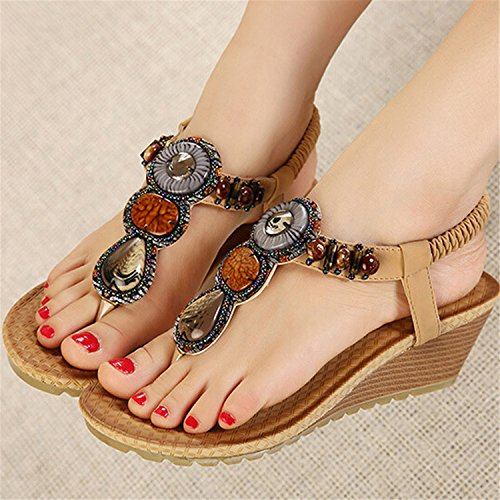 Shoes Sandals Beach Summer Women Rhinestone Vintage Black Flip Robert Women Flops Xwz415 Woman Westbrook SBpwqBP