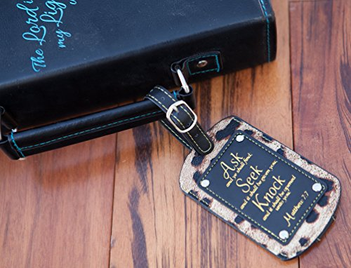 2-Pc Set Luggage Tags. Inspirational Themes. Perfect Christian & Religious Gifts For Women & Men. by Bellerina (Image #2)