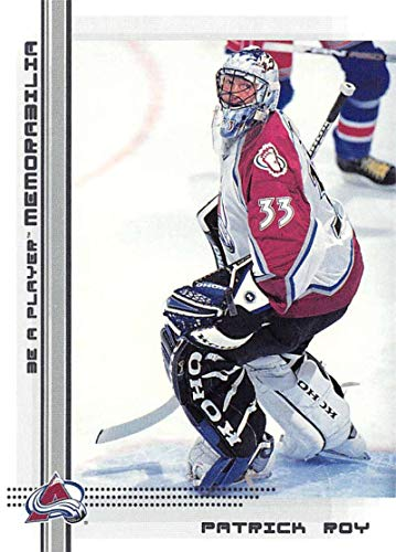 (2000-01 Be A Player Memorablia Hockey #104 Patrick Roy Colorado Avalanche Official Trading Card From ITG In The Game)