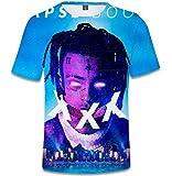 SERAPHY Unisexe 3D Printed Summer T-Shirt Xxxtentacion Boys Hip-hop Top Shirt Q0786 2XS